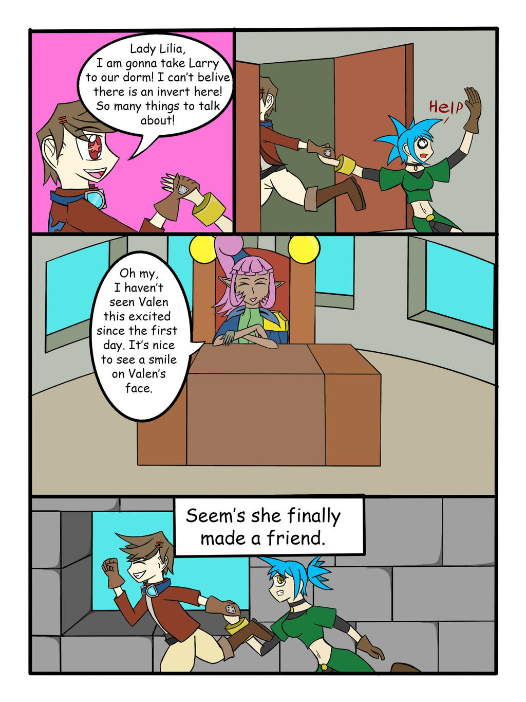 My Life as a Blue Haired Sorceress page 27 by epic-agent-63