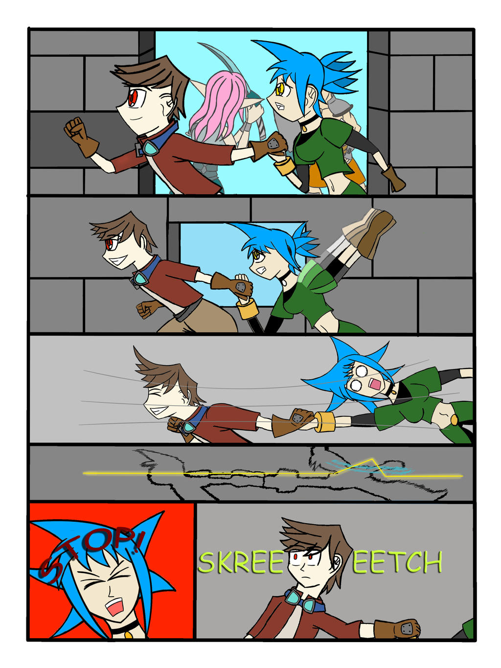 My Life as a blue haired sorceress page 28 by epic-agent-63