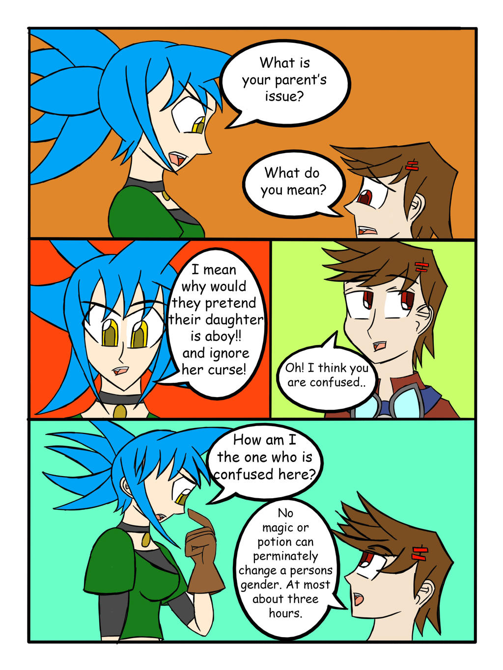 My Life as a Blue Haired Sorceress page 38 by epic-agent-63