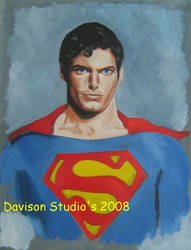 Chris Reeve,oil on panel by Paulstered