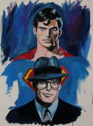 Chris Reeve,watercolor on paper by Paulstered