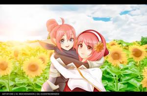 Fire Emblem Fates: Sakura and Kana by eccentricminded
