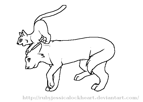 Cat And Wolf Line Art Best Cars 2018