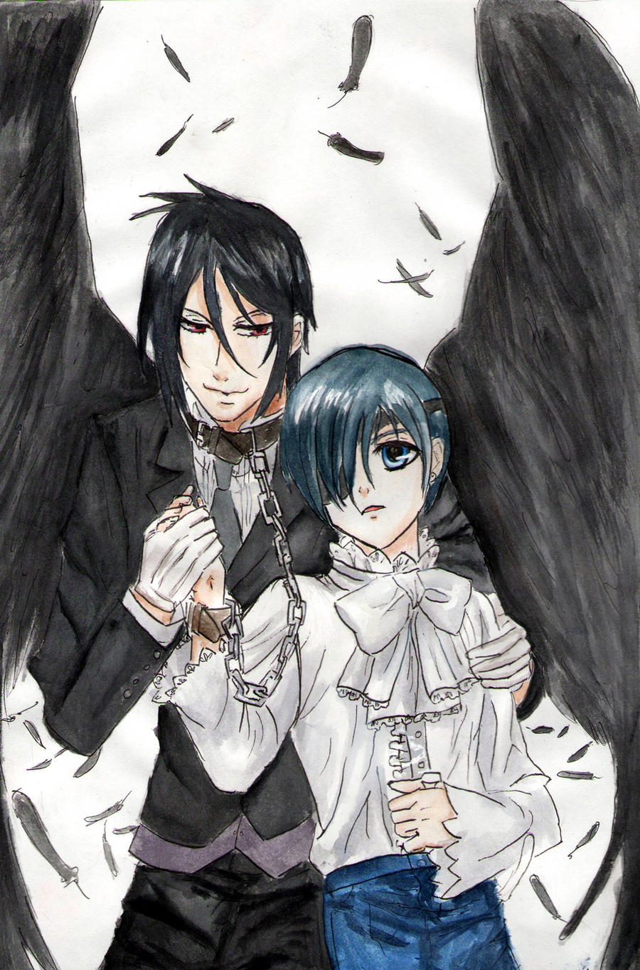 Black Butler: Ciel and Sebastian by RedAugen