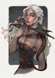 DAENERYS   MOTHER OF DRAGONS by alexzappa