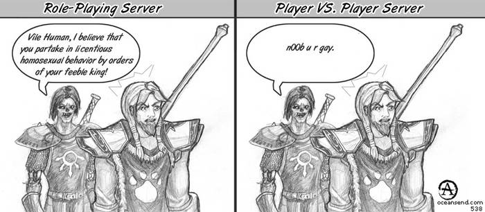 world of warcraft server types