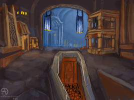 inside ironforge by OceansAndrew