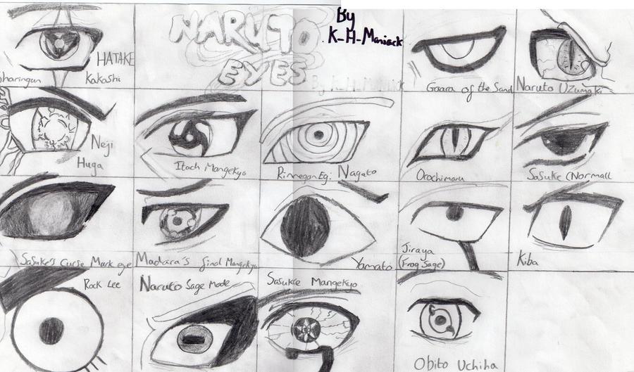 Naruto Eyes By K H MANIACK