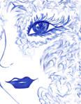 Girl of Indigo Sky