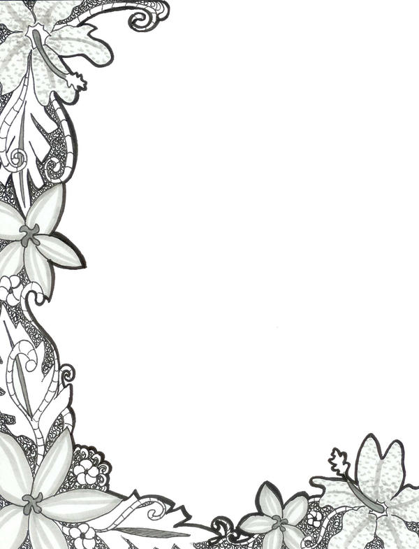 Floral Border By Floral Moon Zenith On Deviantart
