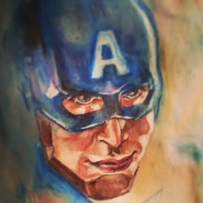 Captain America oil study by lilbit075