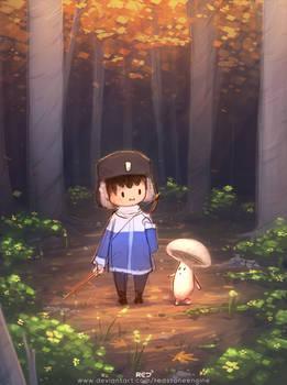 Little friend in the woods