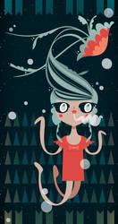 Jellyfish Girl by crowded-teeth