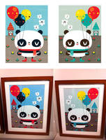 Panda Balloons by crowded-teeth