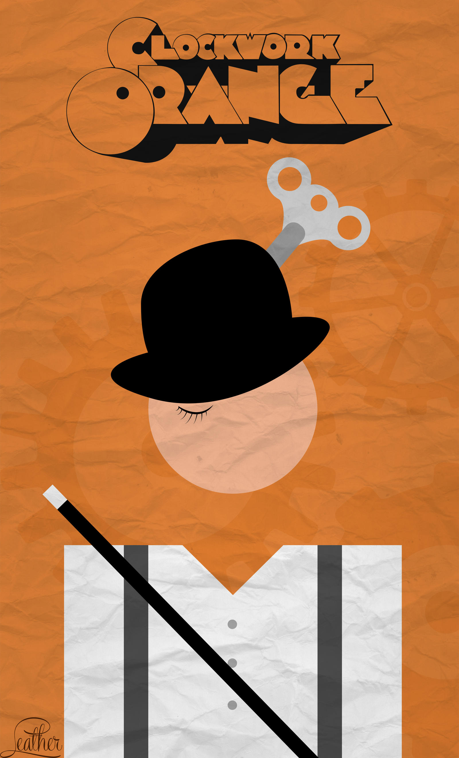 Clockwork Orange Minimalist Poster HD by ArtistWannaB3 on ... A Clockwork Orange Minimalist Poster