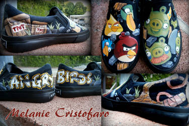 Angry Birds shoe design! by Melanie02
