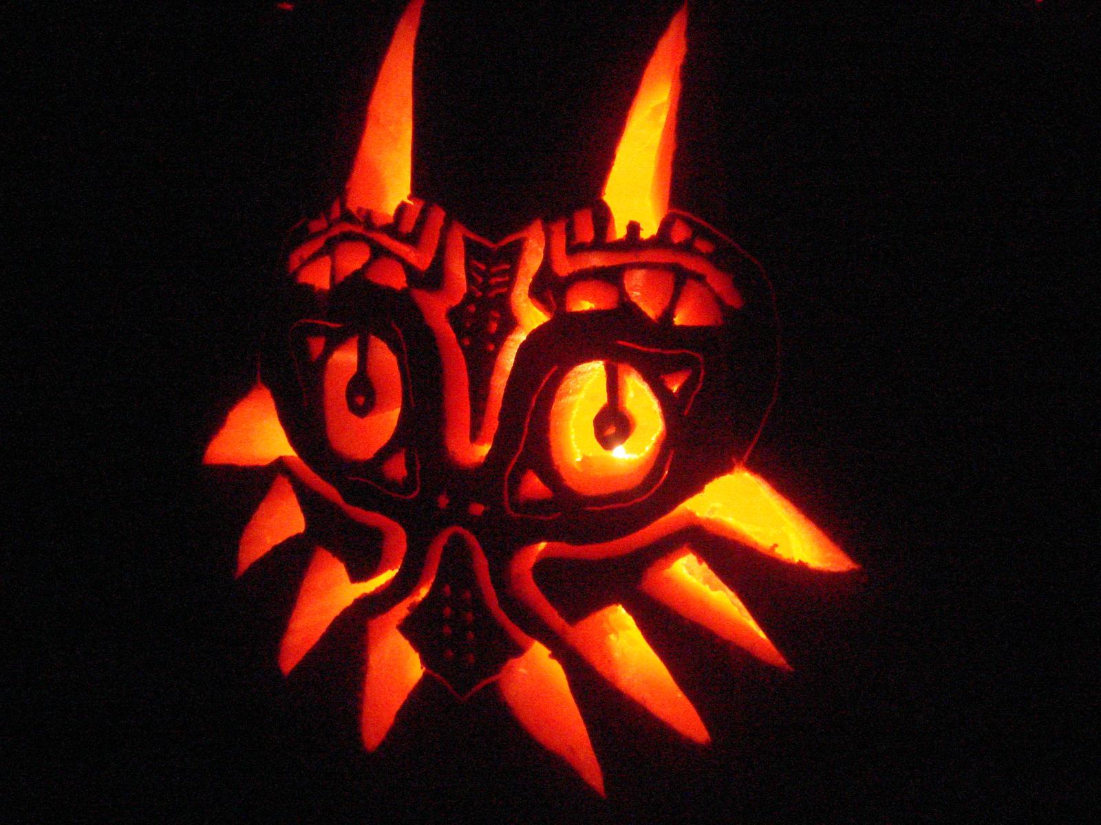 Majora s mask pumpkin carving by ph nt on deviantart