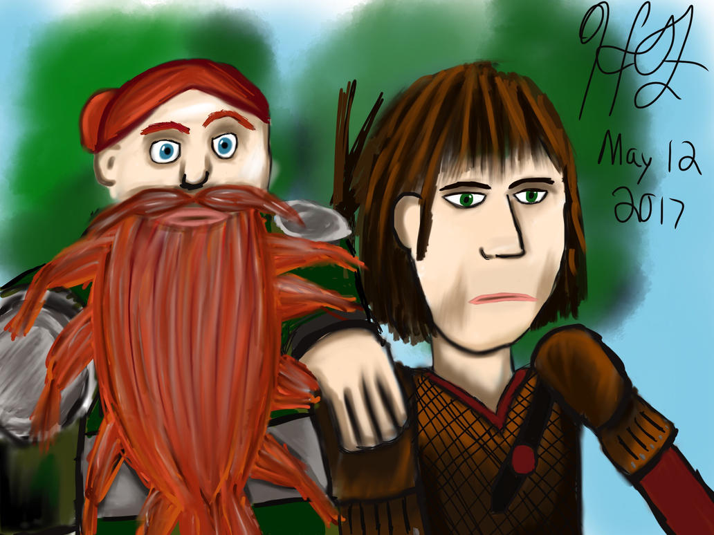 Hiccup and Stoick by nightfury326