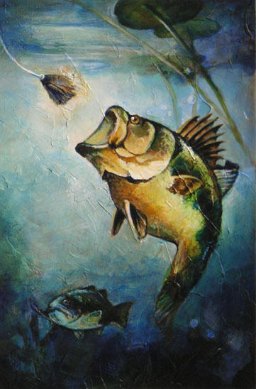 Bass painting by thegryph on deviantart for Bass fish painting