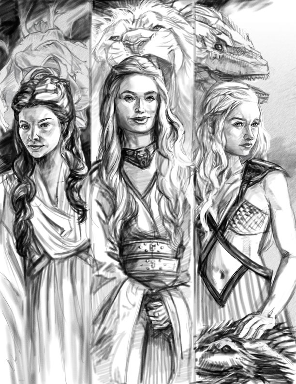 Game of Thrones Sketch by thegryph