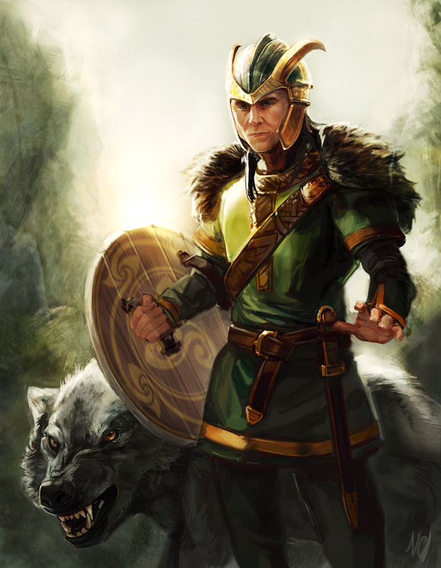 Items similar to SALE loki's children norse mythology ... |Loki Fenrir