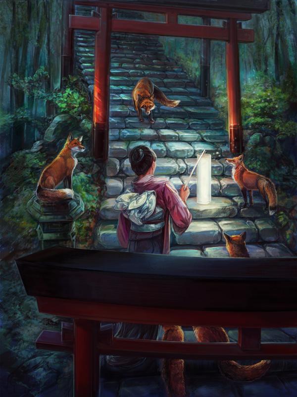 Fox Shrine by thegryph