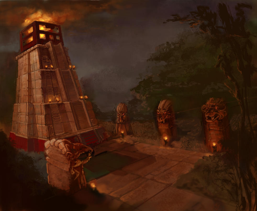Mayan Tower by thegryph