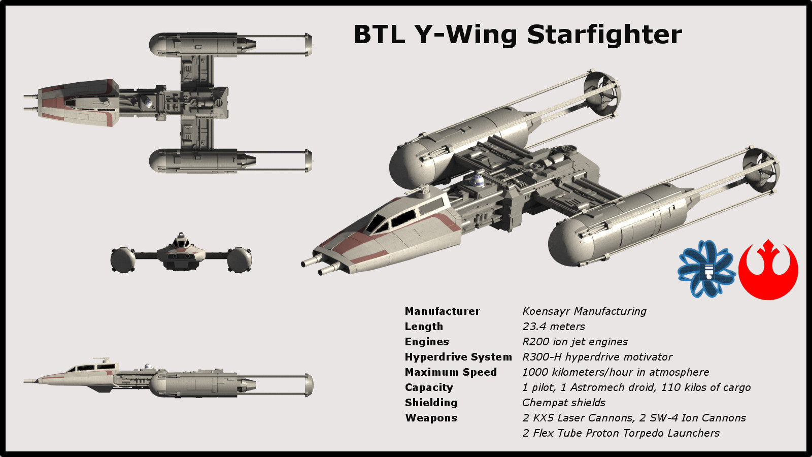 Star Wars Blt Y Wing Starfighter By Silveralv On Deviantart