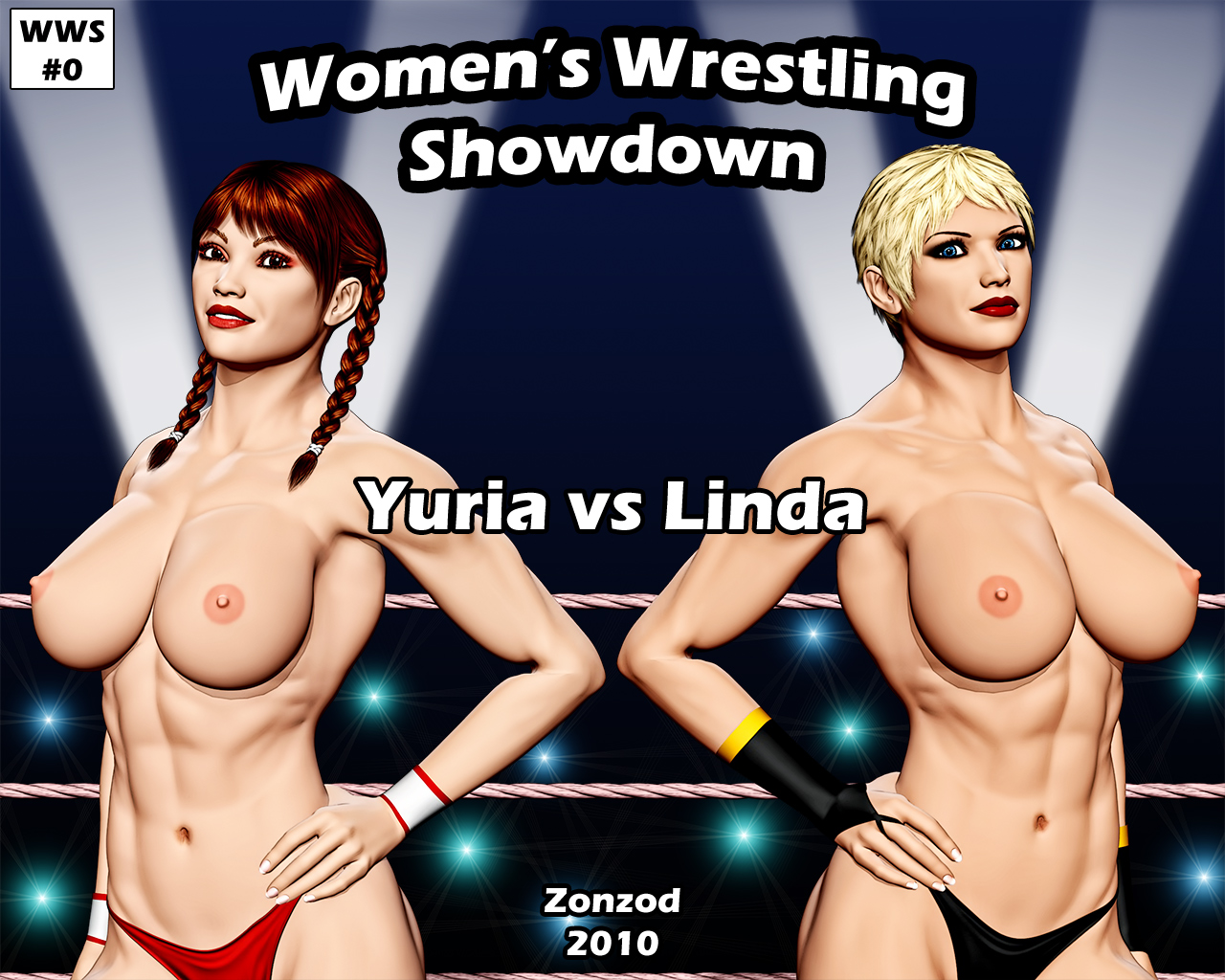 Women Wrestling Topless 58