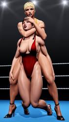 High Heels Wrestling p2 by zonzod
