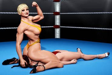 High Heels Wrestling p3 by zonzod