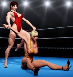 High Heels Wrestling p4 by zonzod