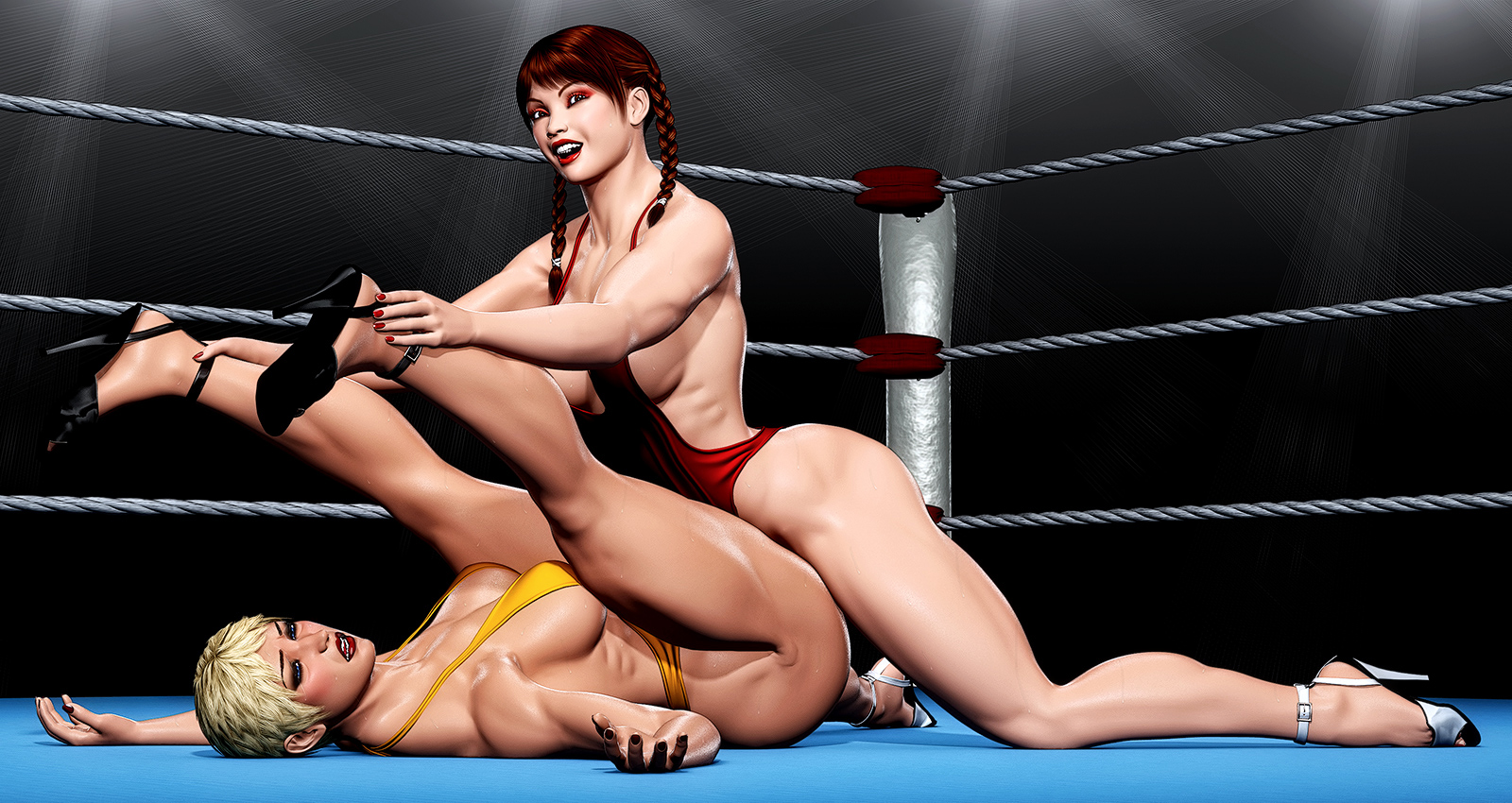 Women of wrestling xxx, amateur college anal