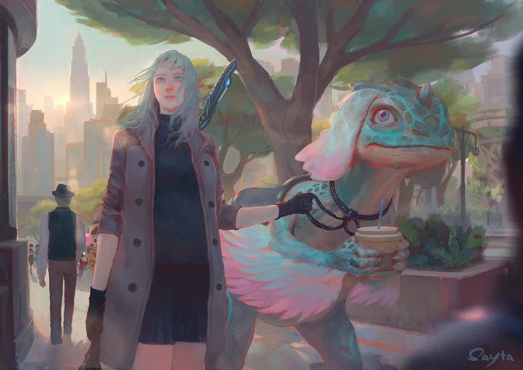 Dragon rider by Sayta0