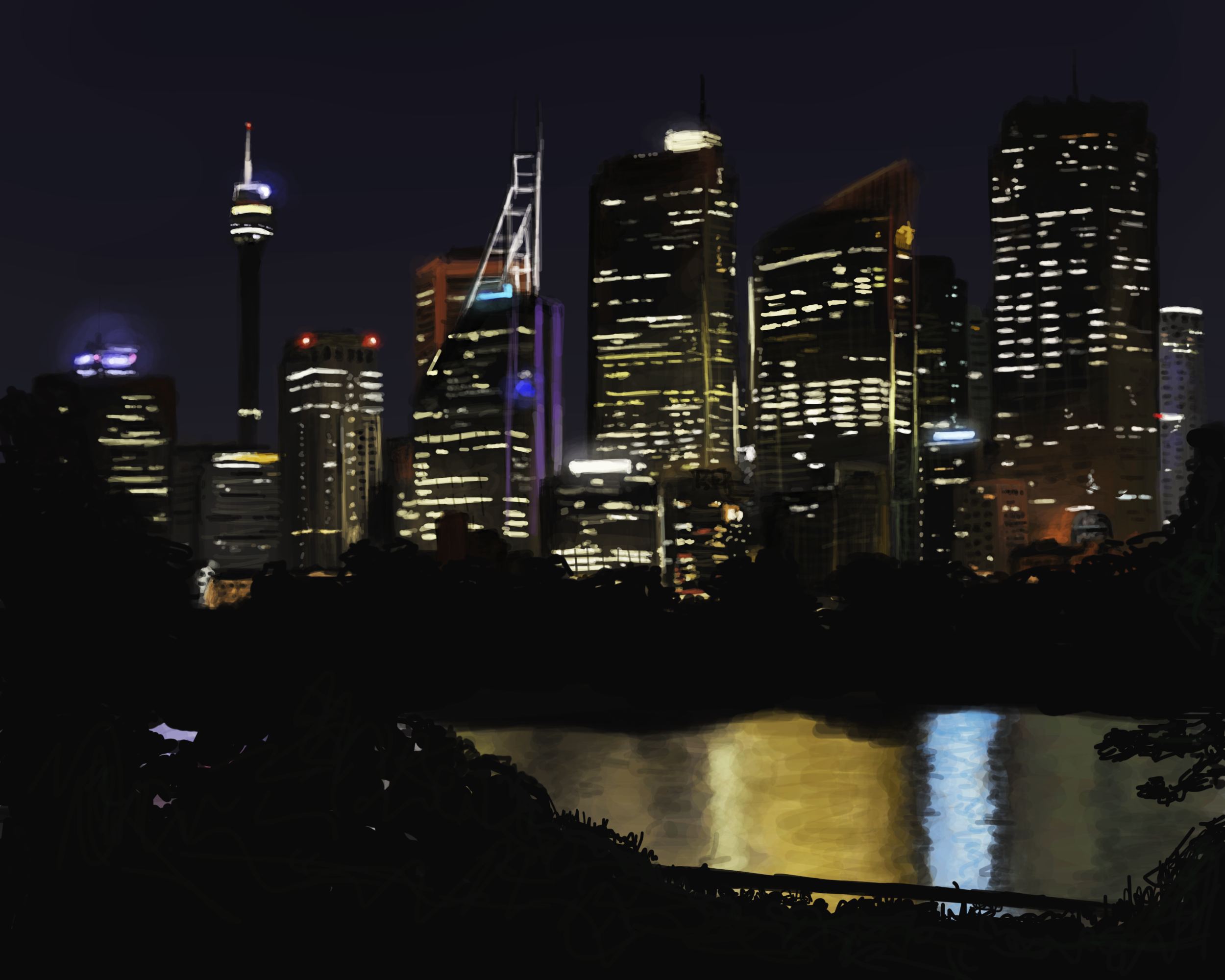Night Time City Skyline by hytermmma on DeviantArt
