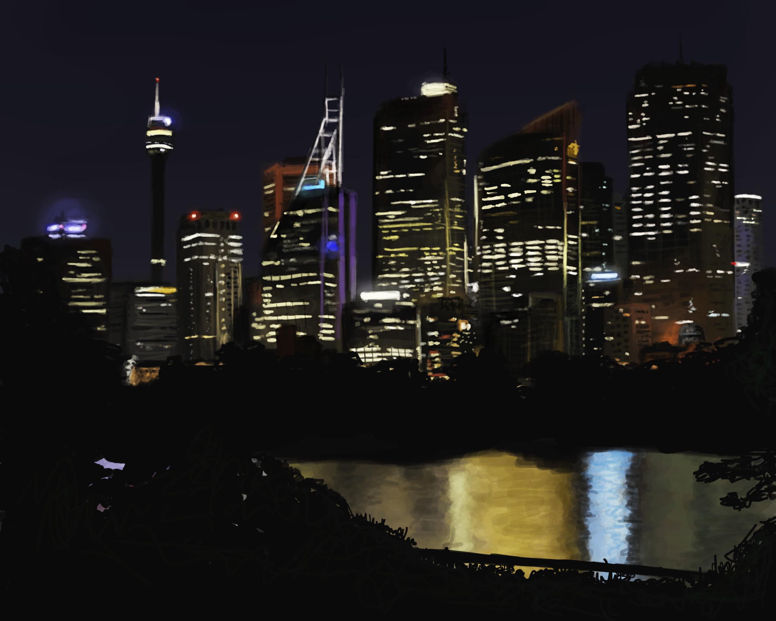 Night Time City Skyline by hytermmma on DeviantArt