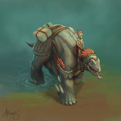 Mayan Lizard Beast of Burden by nowis-337