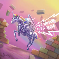 Hip Hop Robot Unicorn Attacks by nowis-337