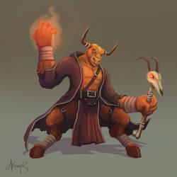 Minotaur Warlock by nowis-337