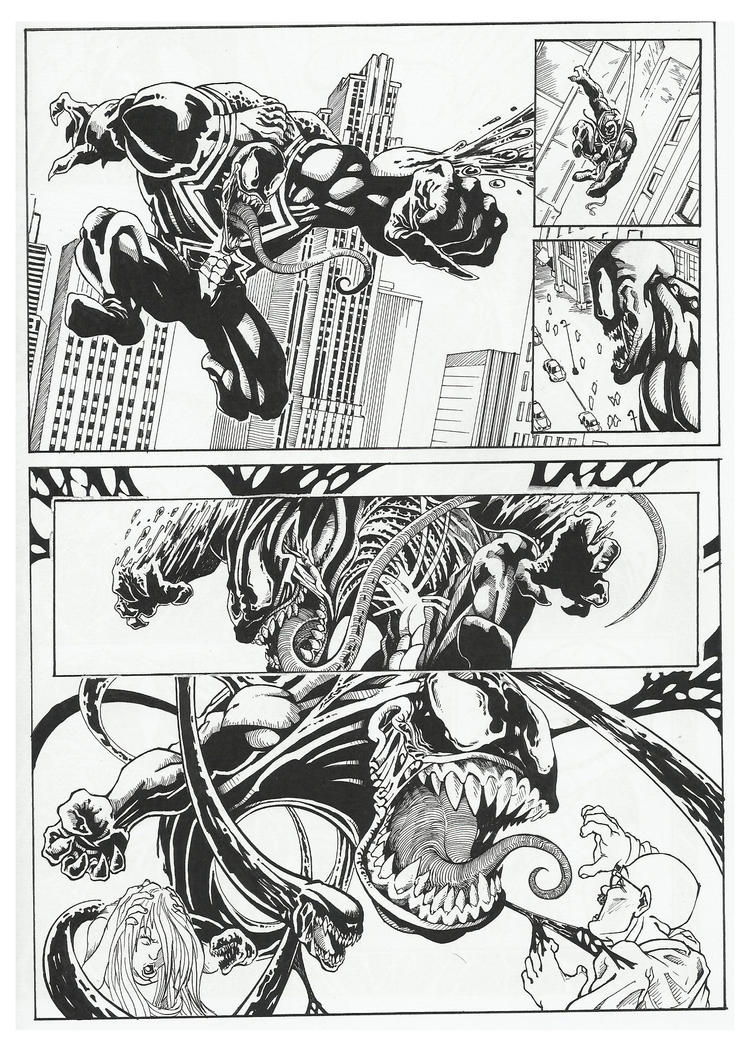 Venom comic-book page 1 by GabrieleDerosasArt