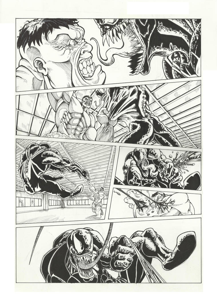 Venom comic-book page 3 by GabrieleDerosasArt