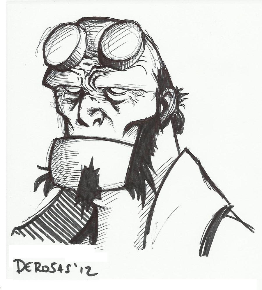 Hellboy Sketch by GabrieleDerosasArt