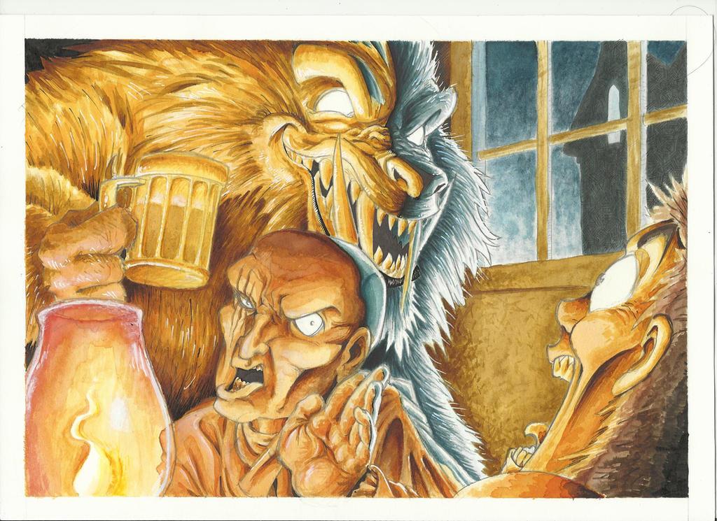 Worgen Tavern by GabrieleDerosasArt
