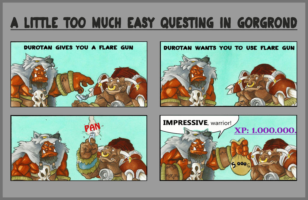 A little too much easy questing in Gorgrond by GabrieleDerosasArt