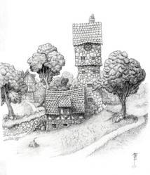 The edge of Wodesmehn Towne by SirInkman