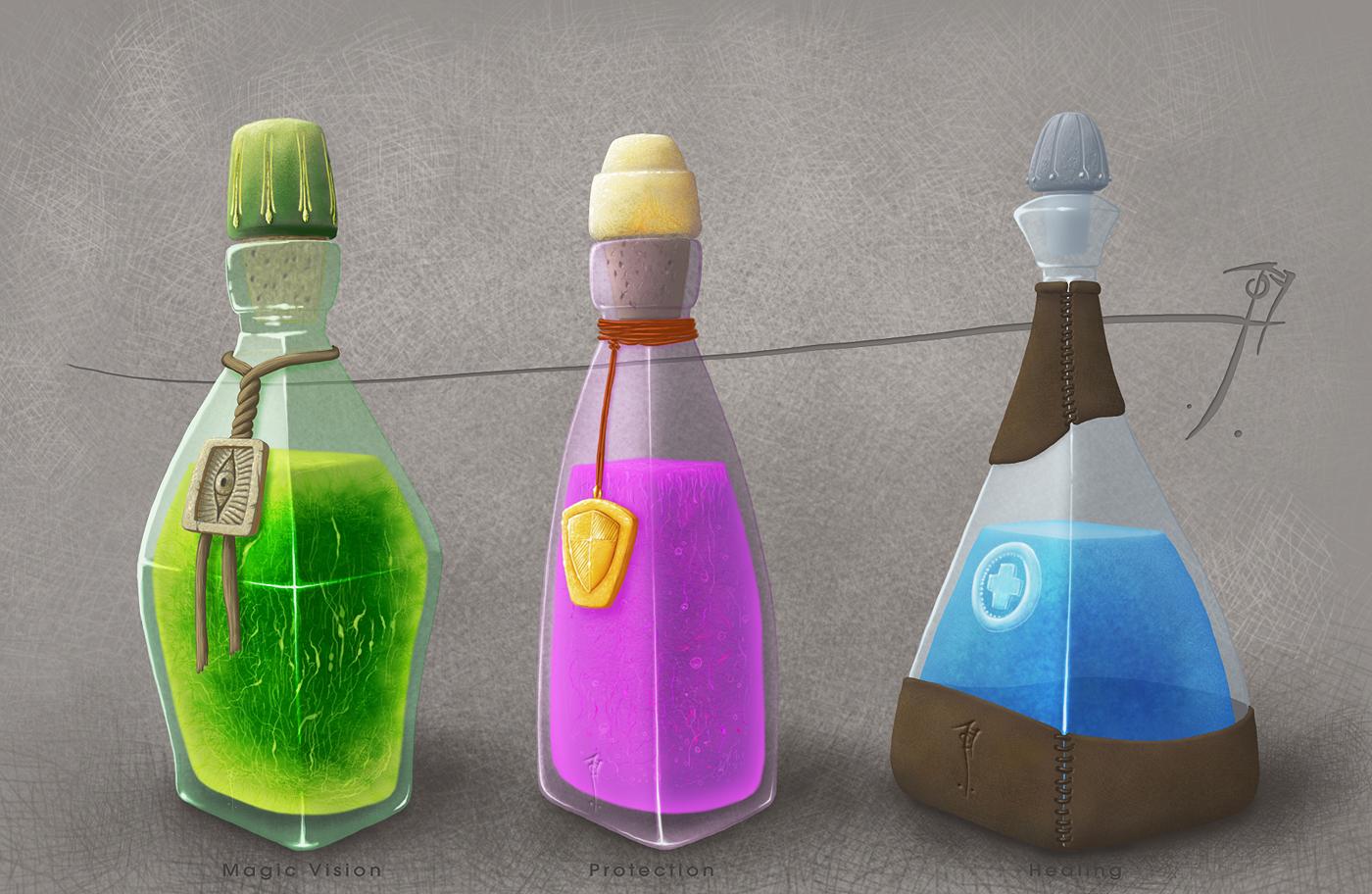 Potions set 01 by SirInkman