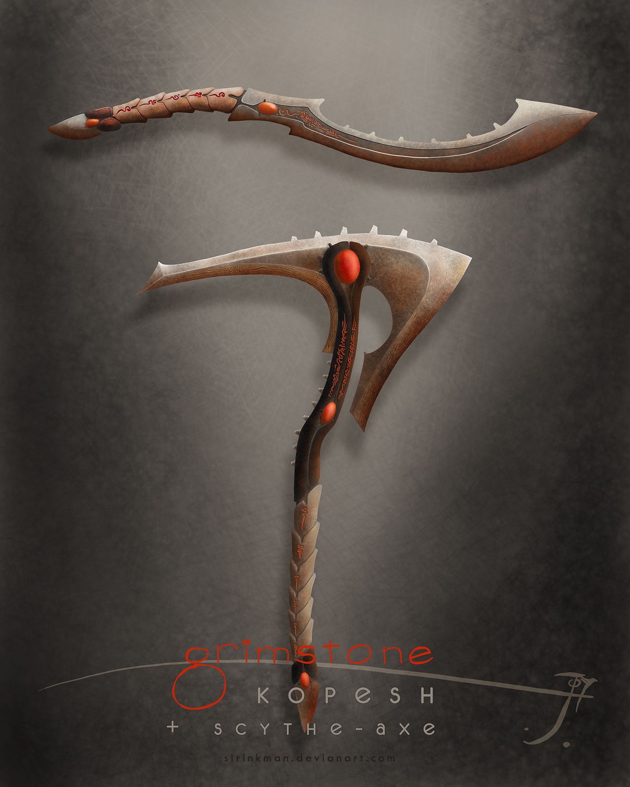 Weapons for Grimstone contest by SirInkman