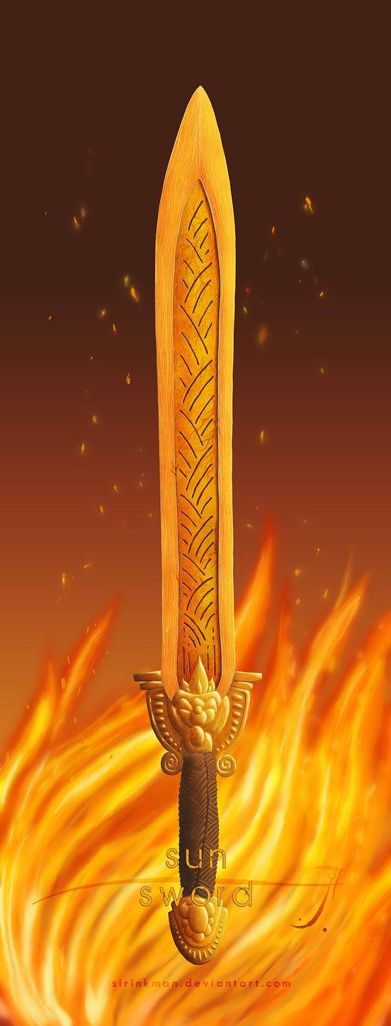 Sun sword [color] by SirInkman