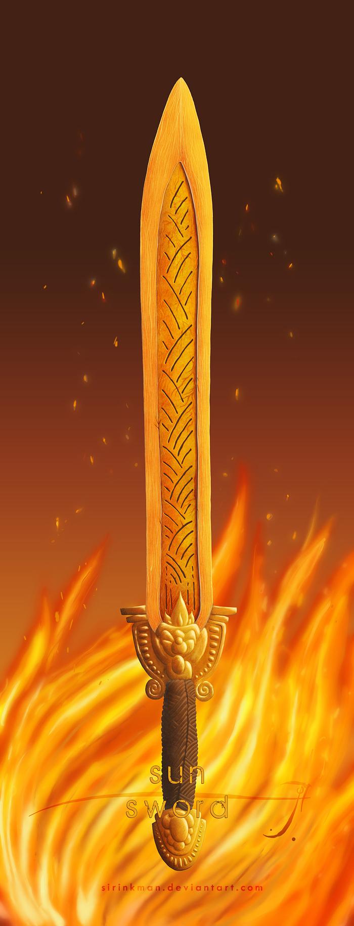 Sun sword [color] by SirInkman