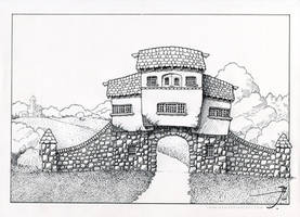 Beagle House Gatehouse [uncolored] by SirInkman